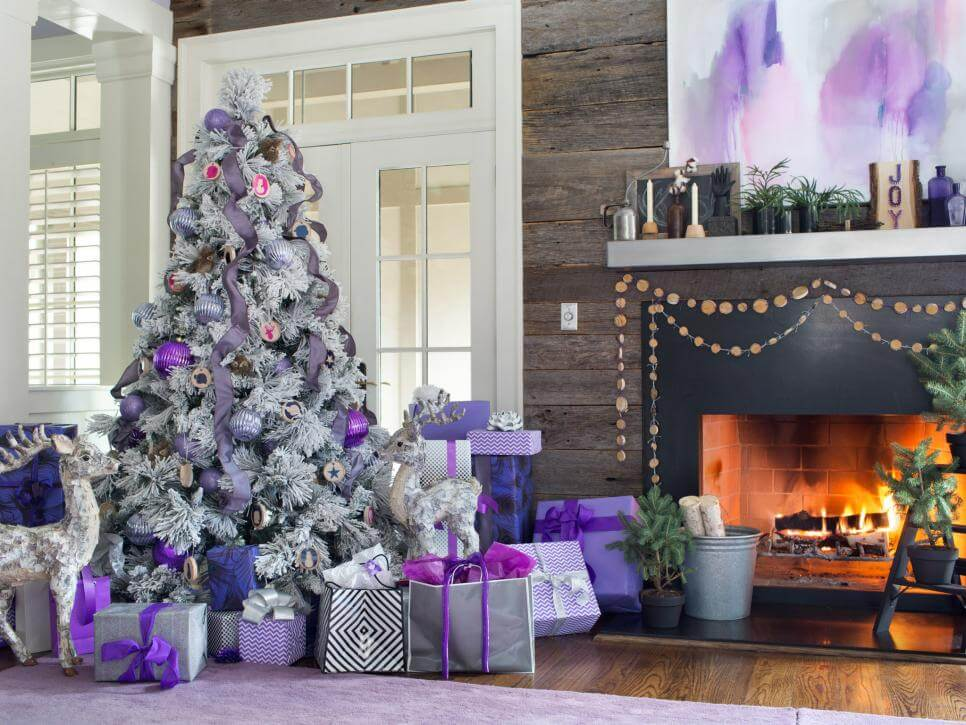 Purple and gray Christmas decoration