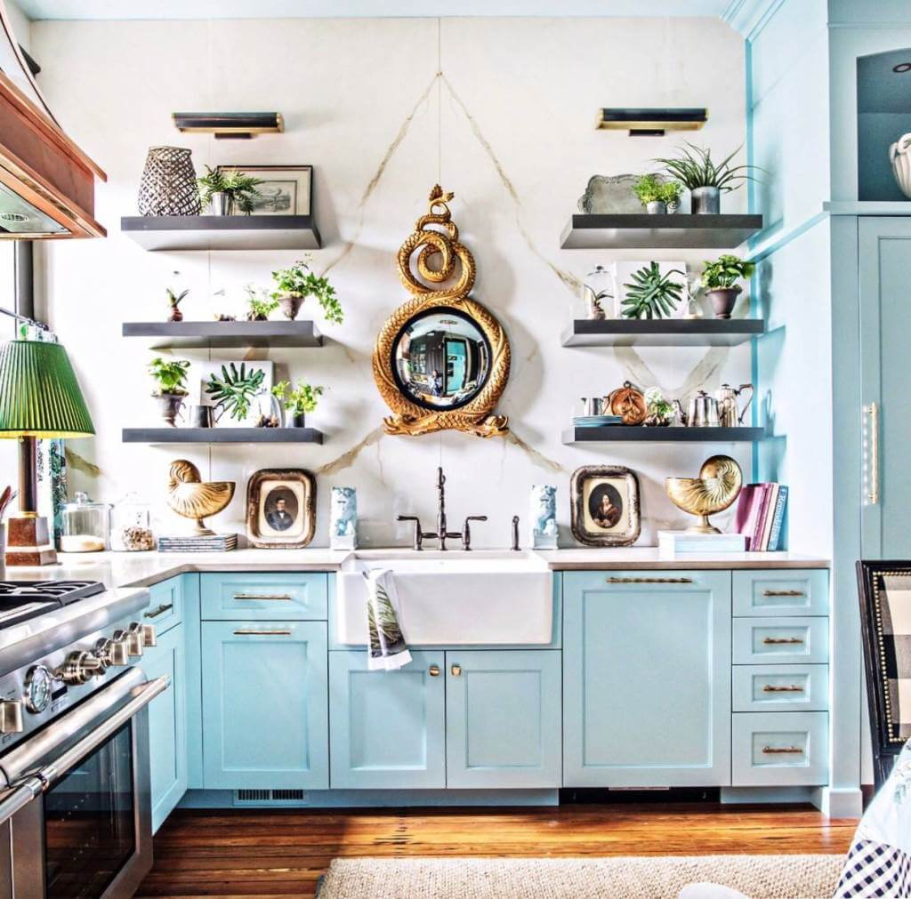Southern style eclectic kitchen design