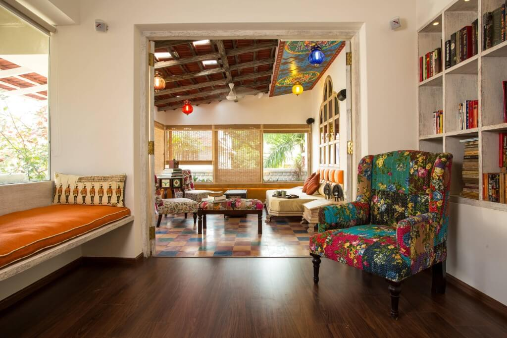 Colorful living room for Indian pattern