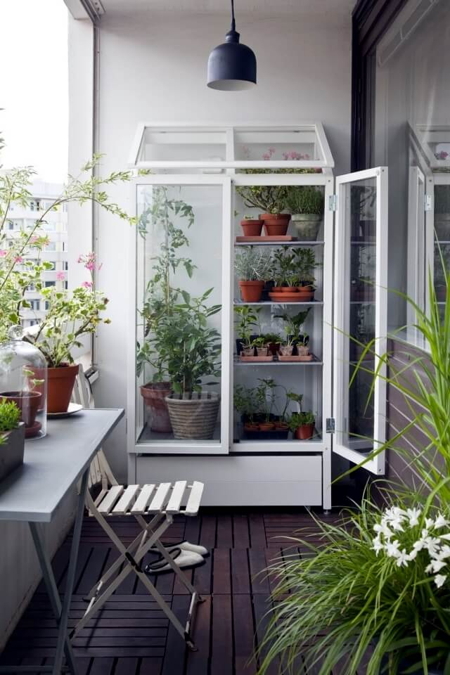 balcony plants container decoration