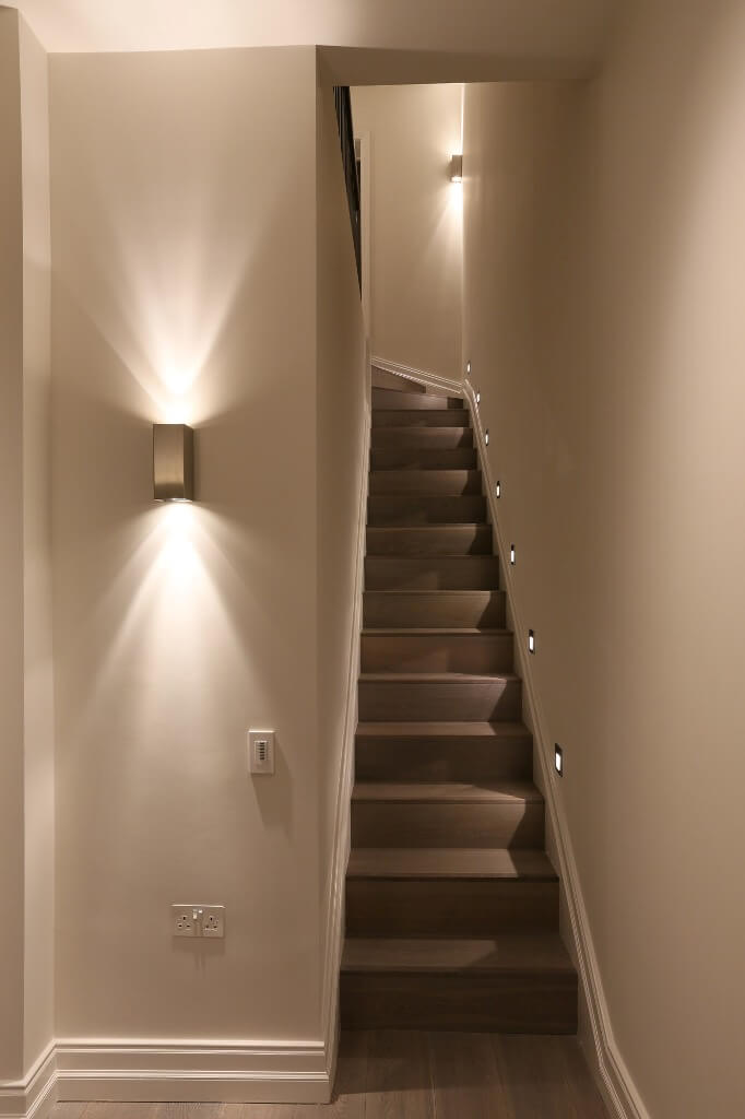 Narrow stair lighting