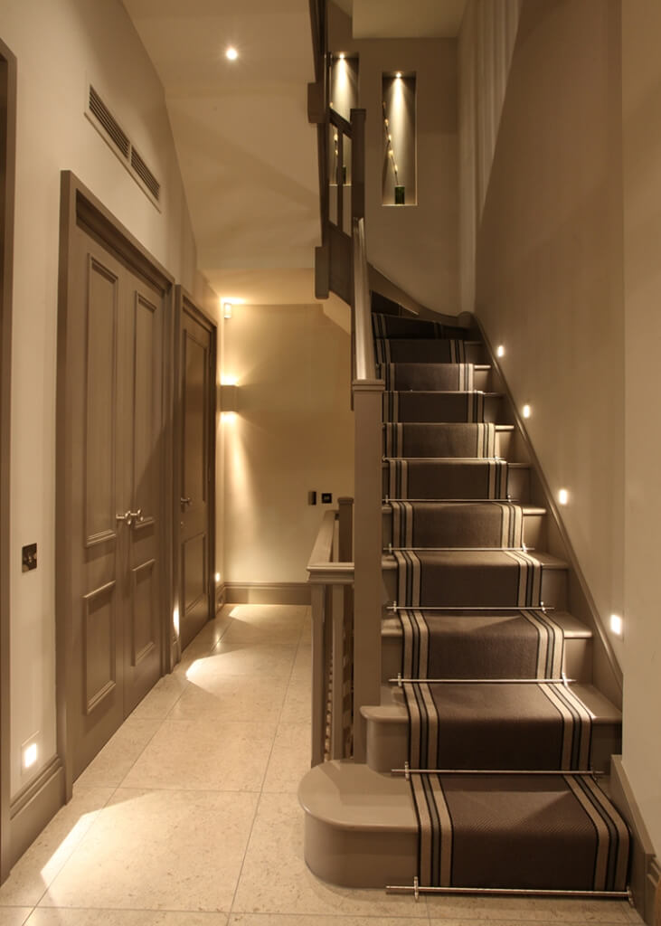Classic staircase with runners