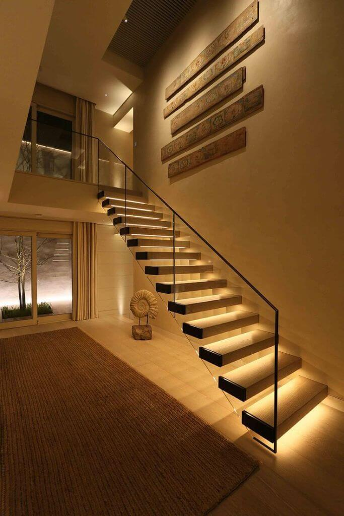 Basement Stair and strip lighting