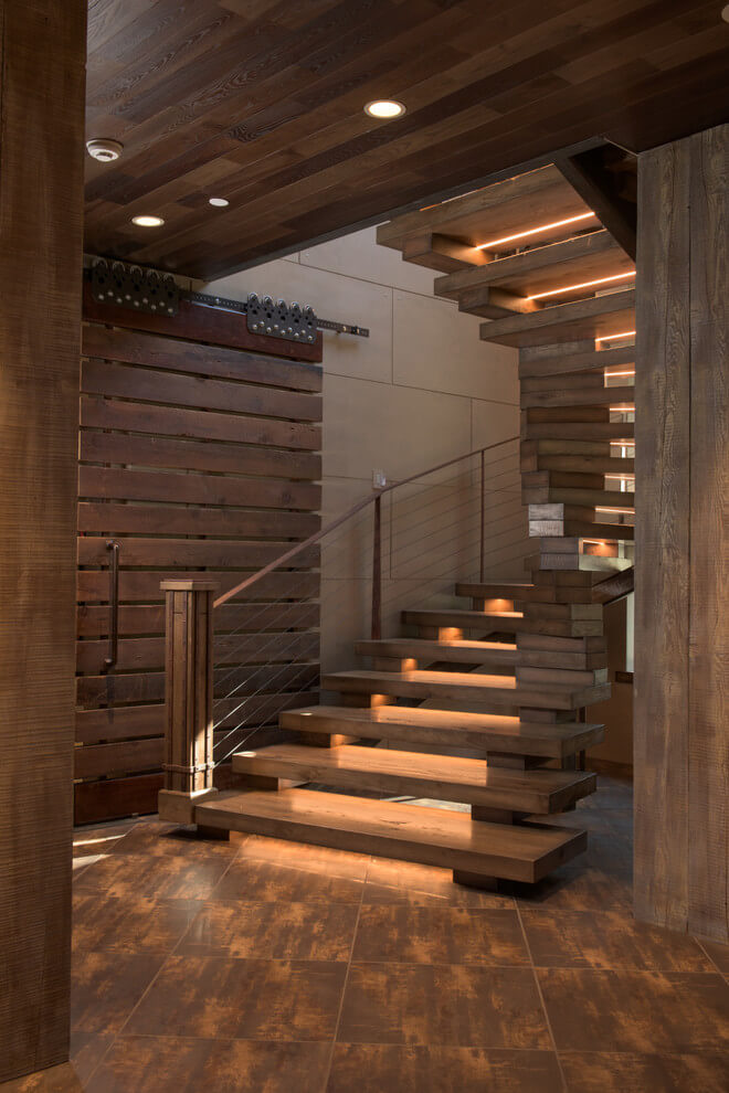 LED strip during stairs