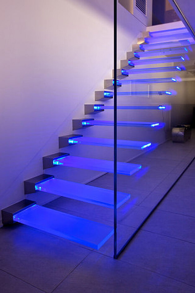 Glass Stair Lighting