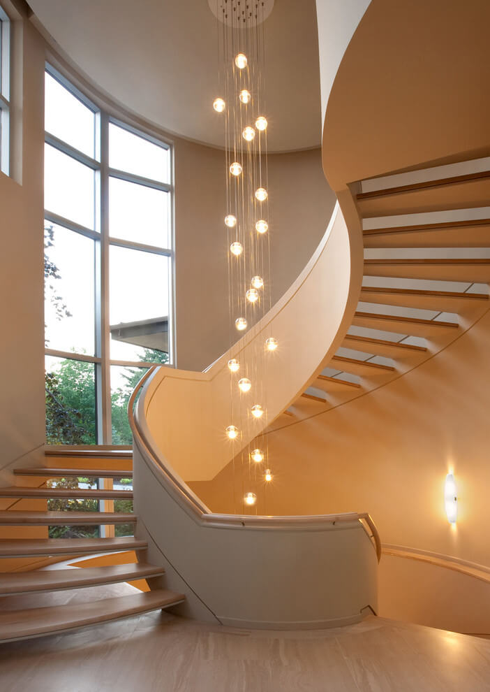 Chandelier for stairs