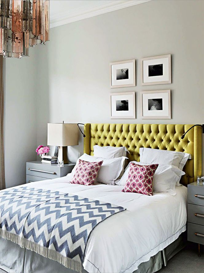 colorful and modern bedroom Capitone Pattern Design
