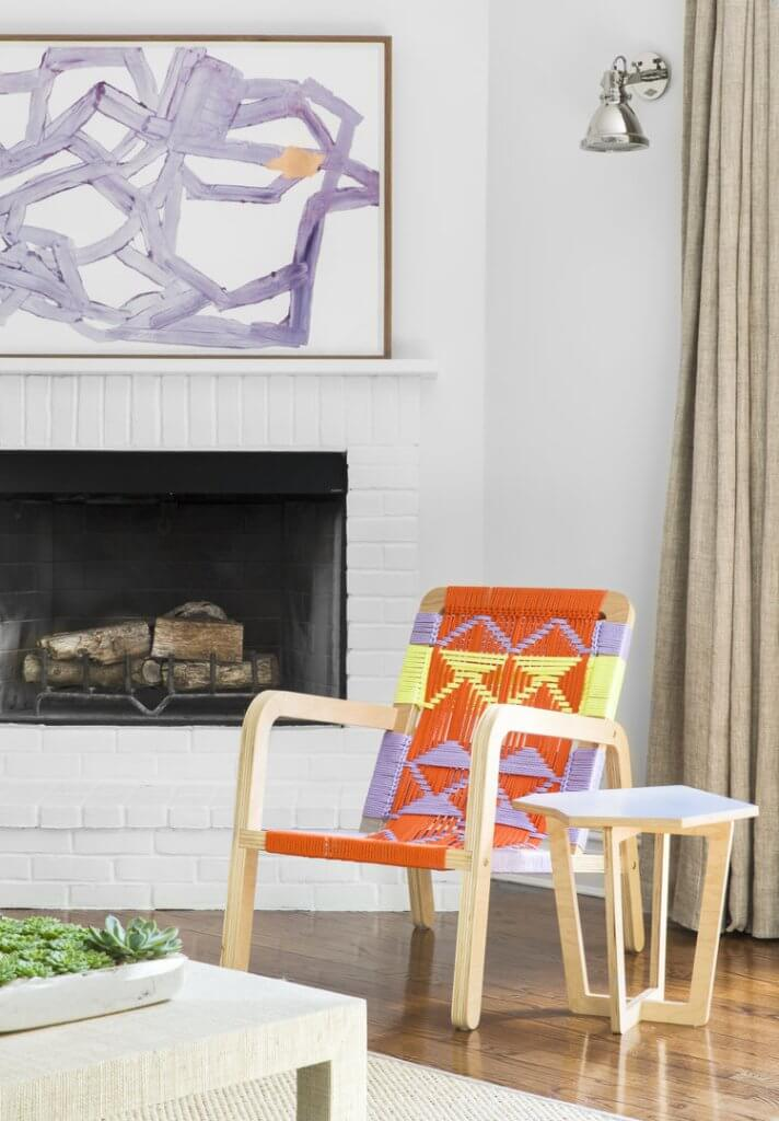 multicolored macramer chairs