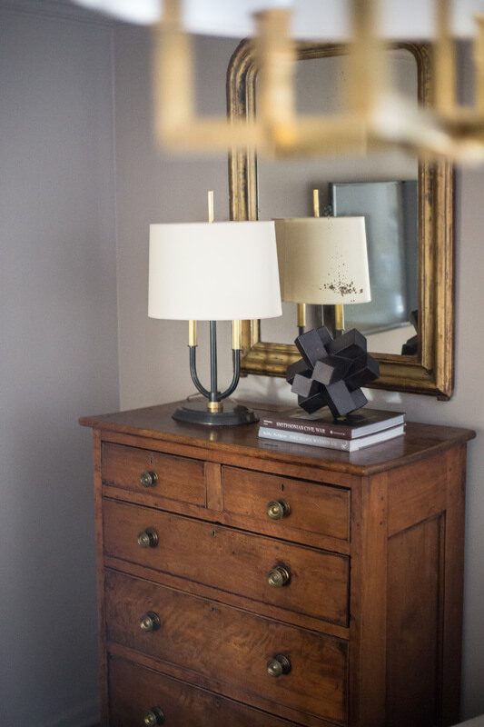 nice lamp and mirror