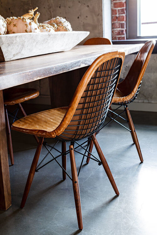eames vintage dining chair