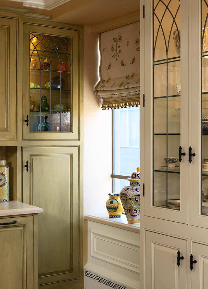 Roman Shades Curtain Little Kitchen Alcove