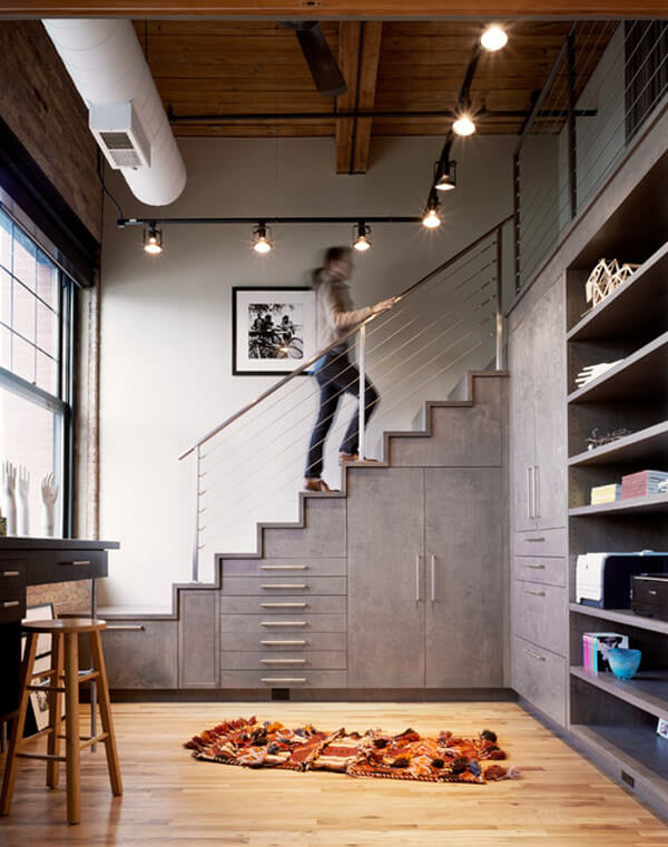 Creative way to maximize under stairs
