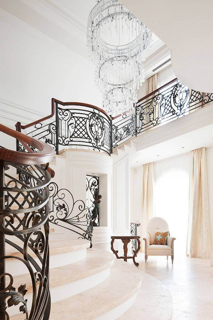 Large French provincial staircase