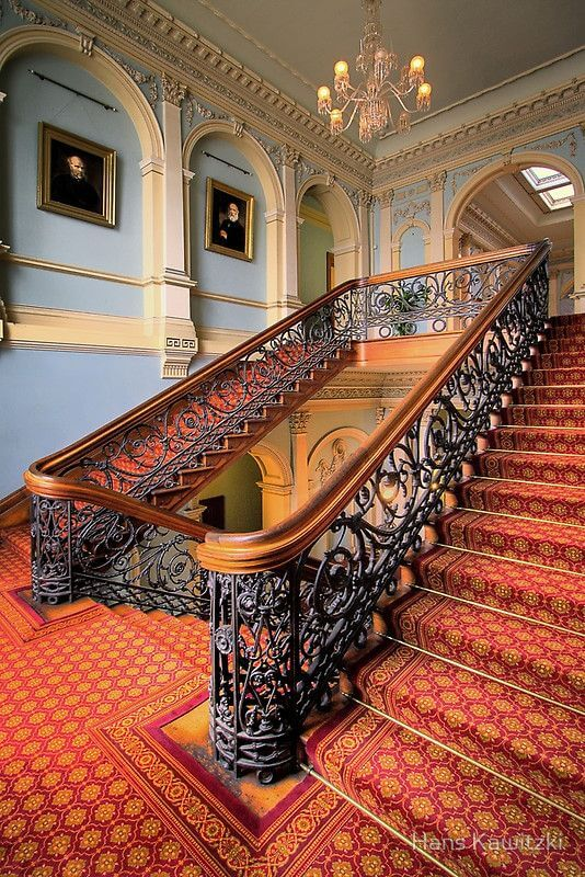 Fancy Victoria staircase with railings