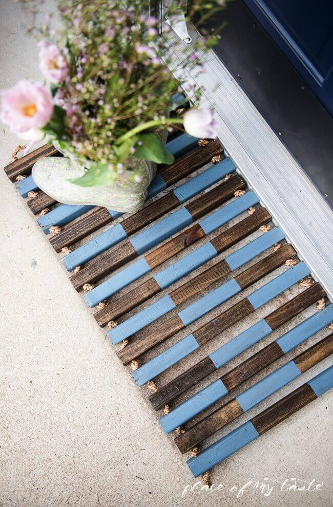 DIY wooden colorful stripes