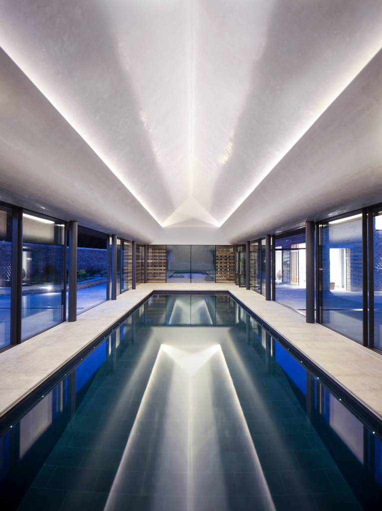 Dark Ceramic Tiles Insane Pool Design