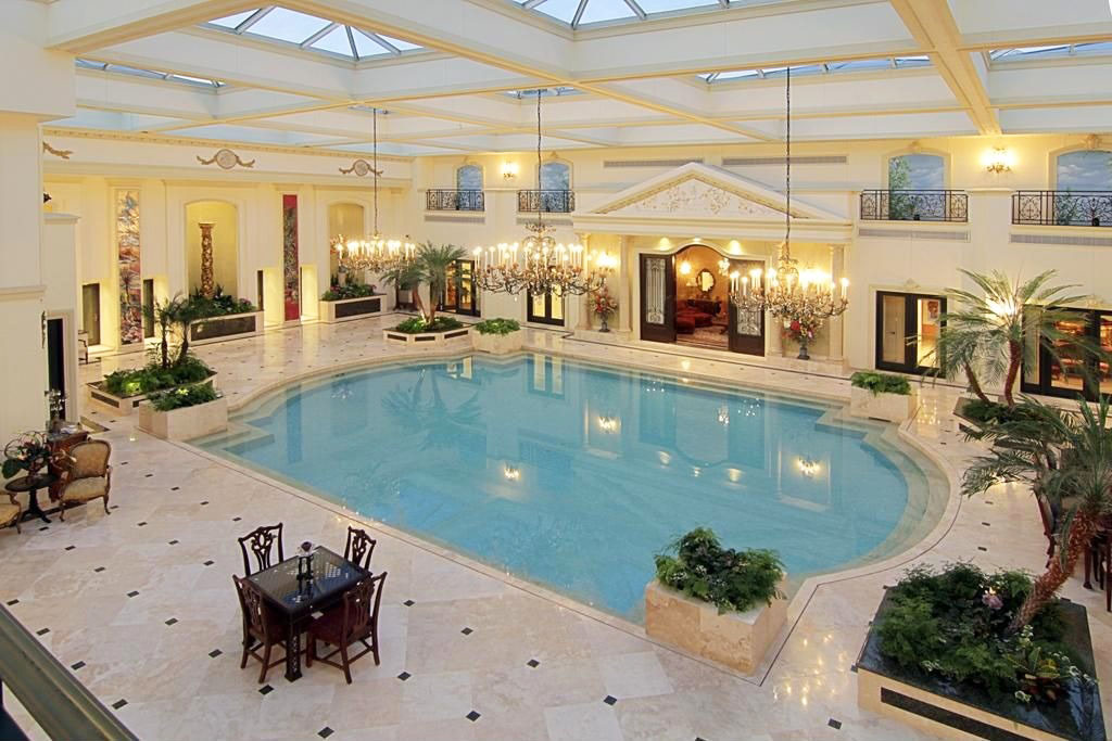 Classic design with large pool