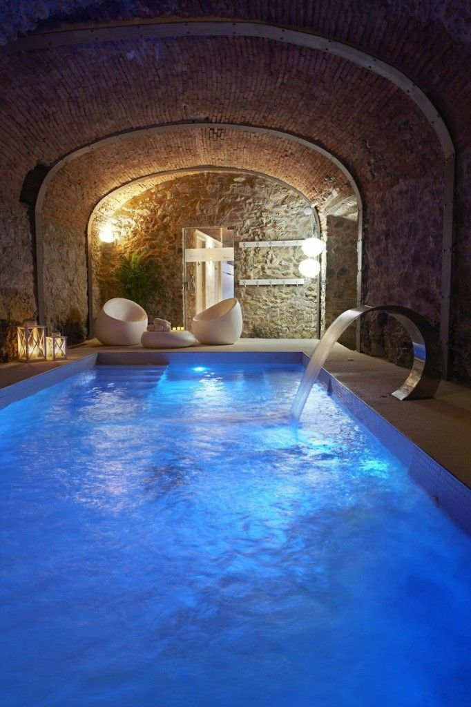 Indoor pool with indoor lighting