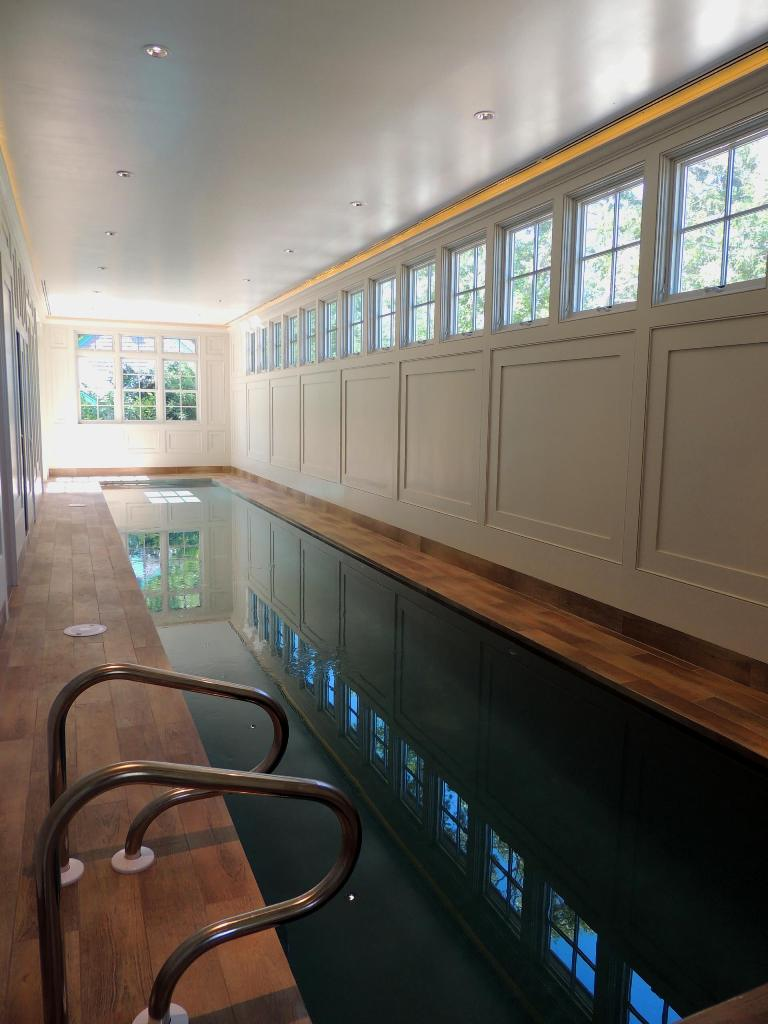 Inspiration for a timeless indoor rectangular pool