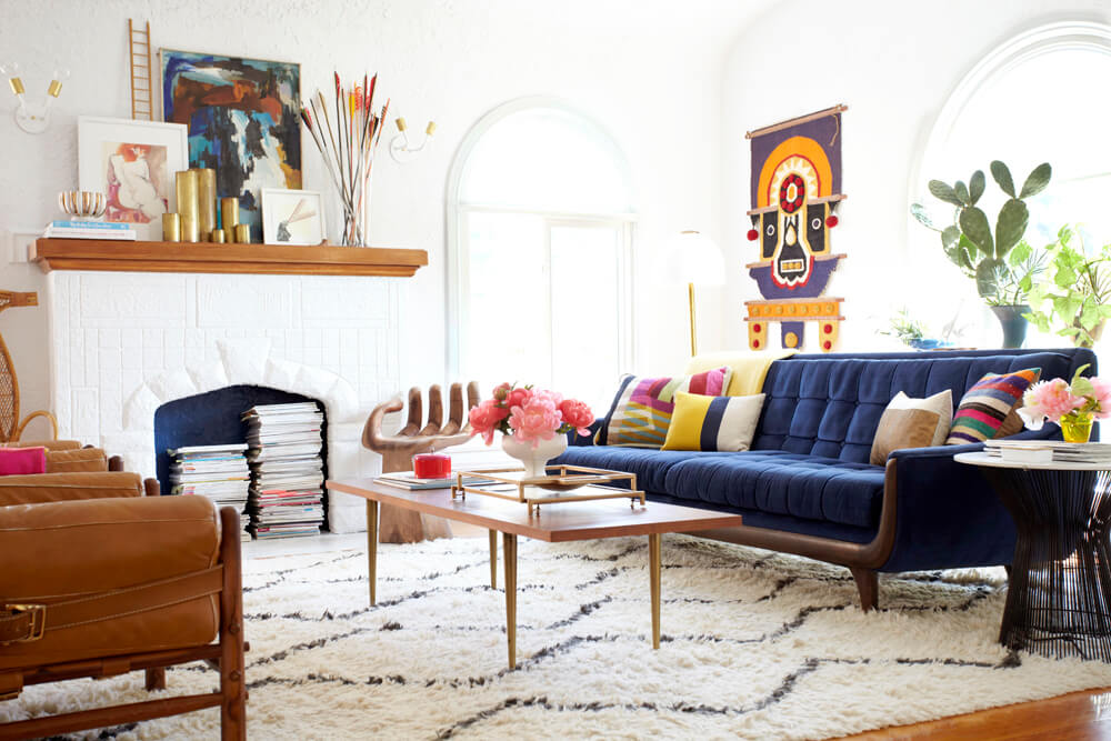 Bright natural mexican style home decor