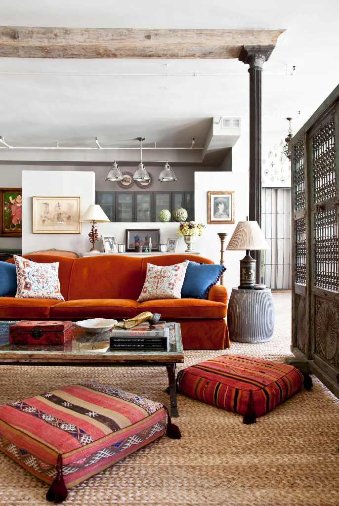 Eclectic bohemian decoration style