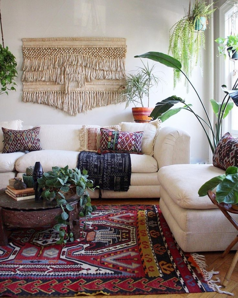 Bohemian style romantic living room