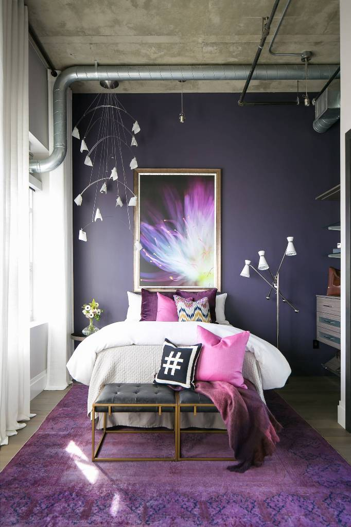 Industrial bedroom for girls