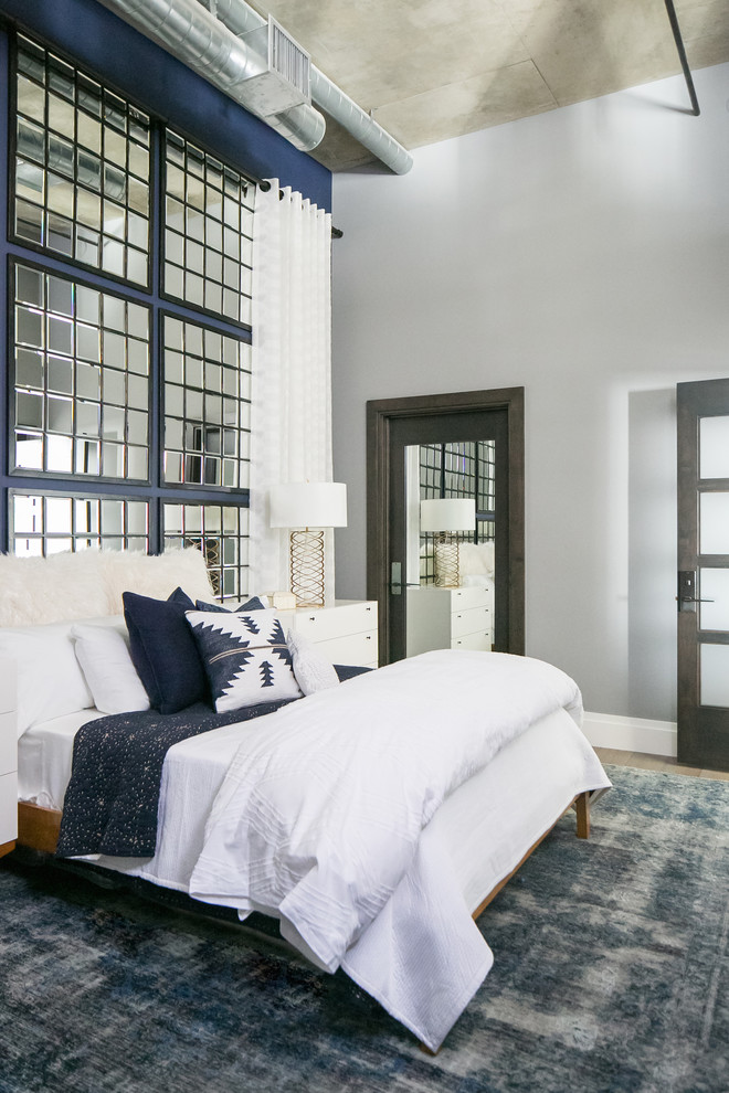 Stylish industrial bedroom design