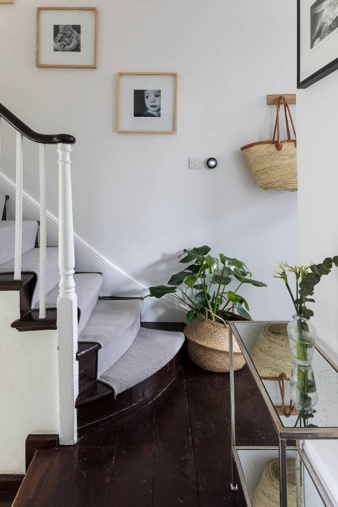 Plant decor near the stairs