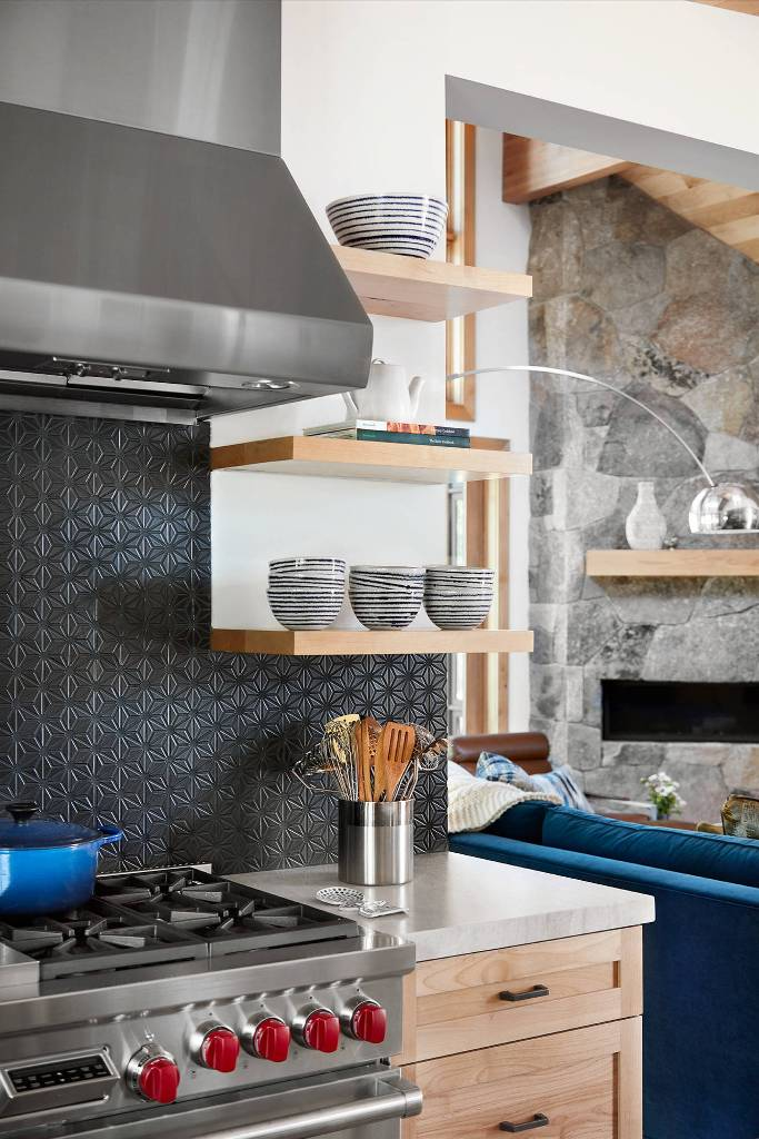 Black Textured Kitchen Wall design