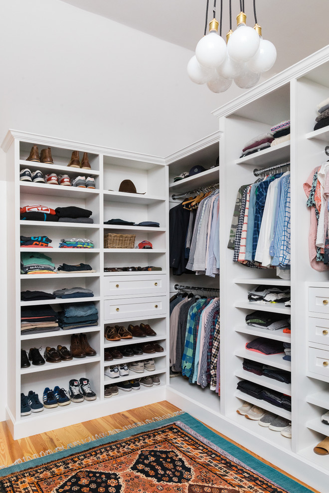 Eclectic storage and closets