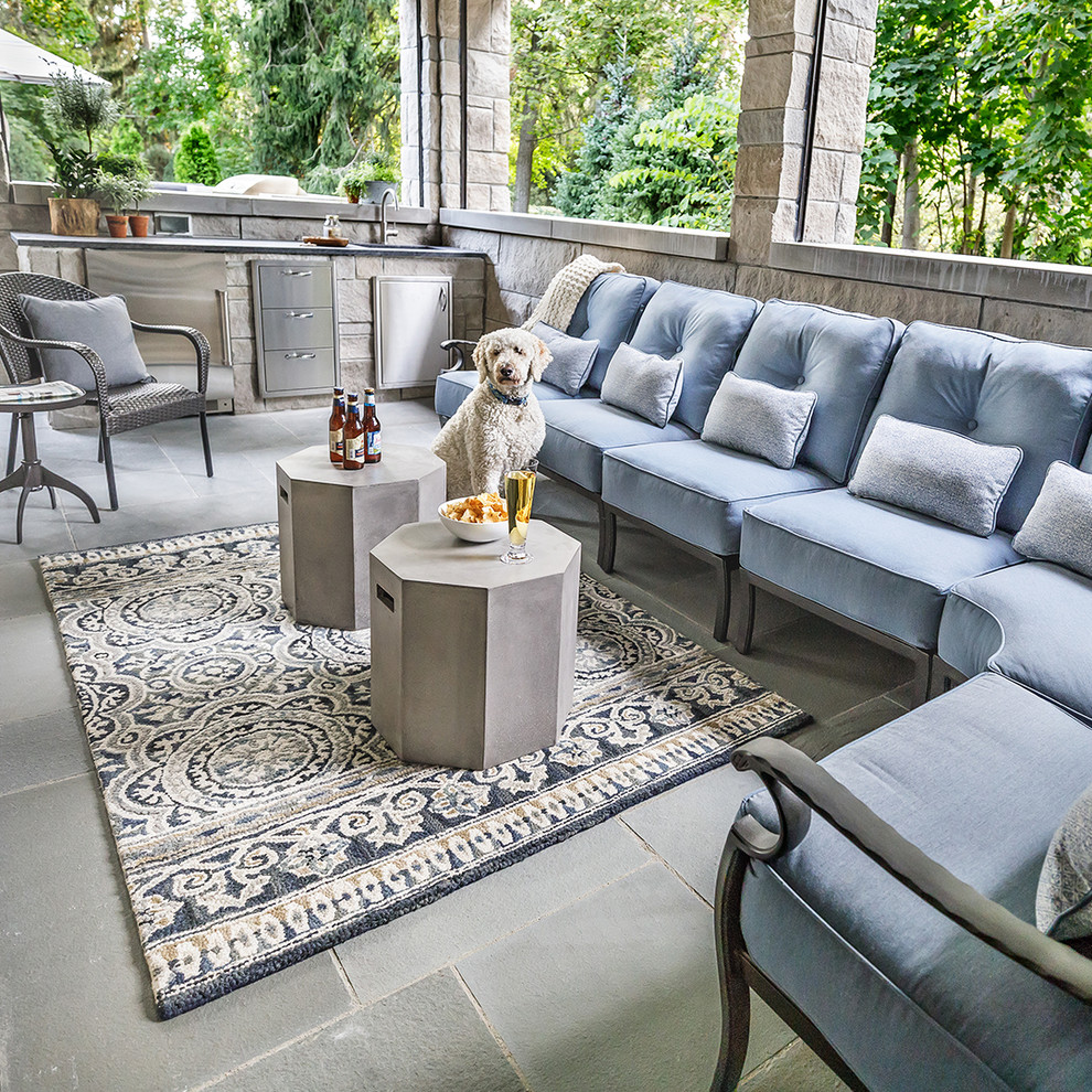 outdoor space with comfortable sofas
