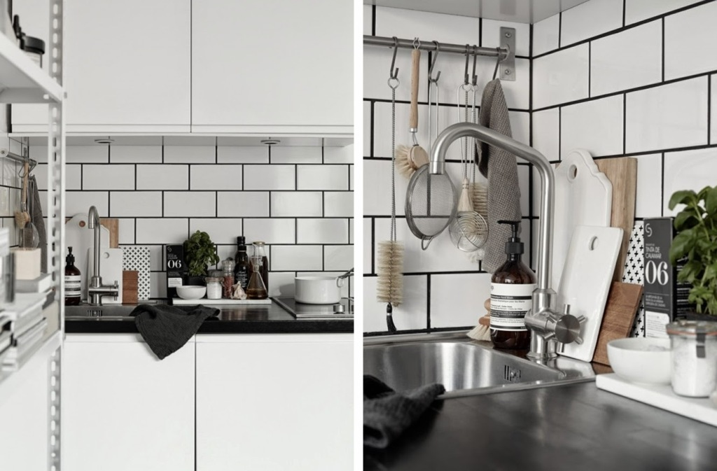 Black and white kitchen design