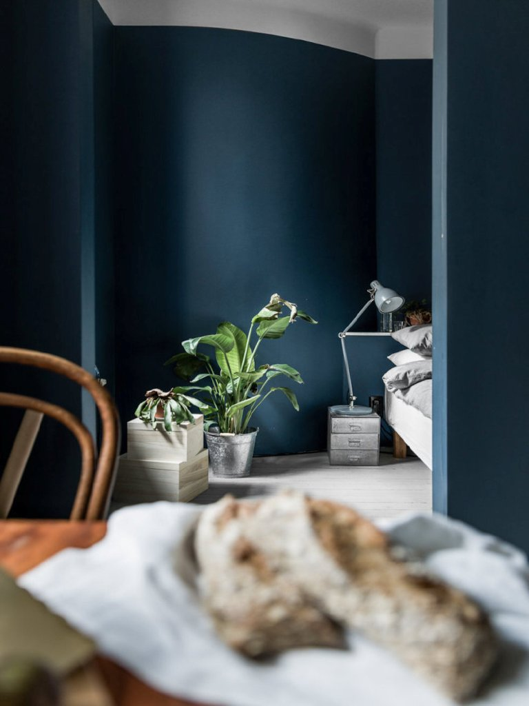 Shades Of Dark Blue Interiors Bedroom