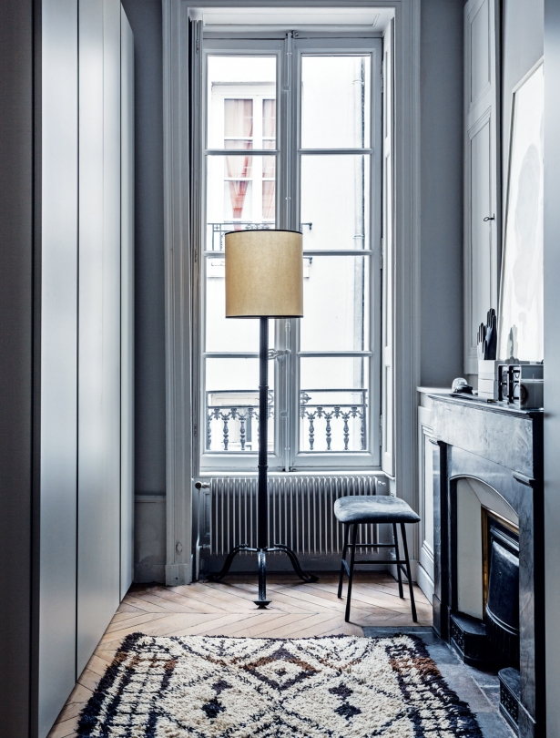 Classic French apartment corridors with cast iron radiators