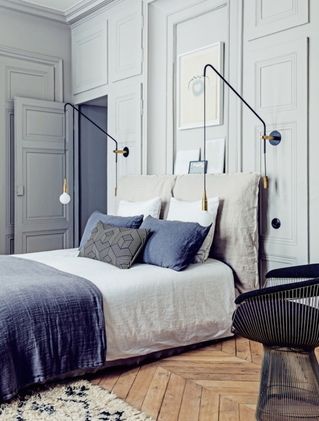 Beautiful French interior for home bedroom