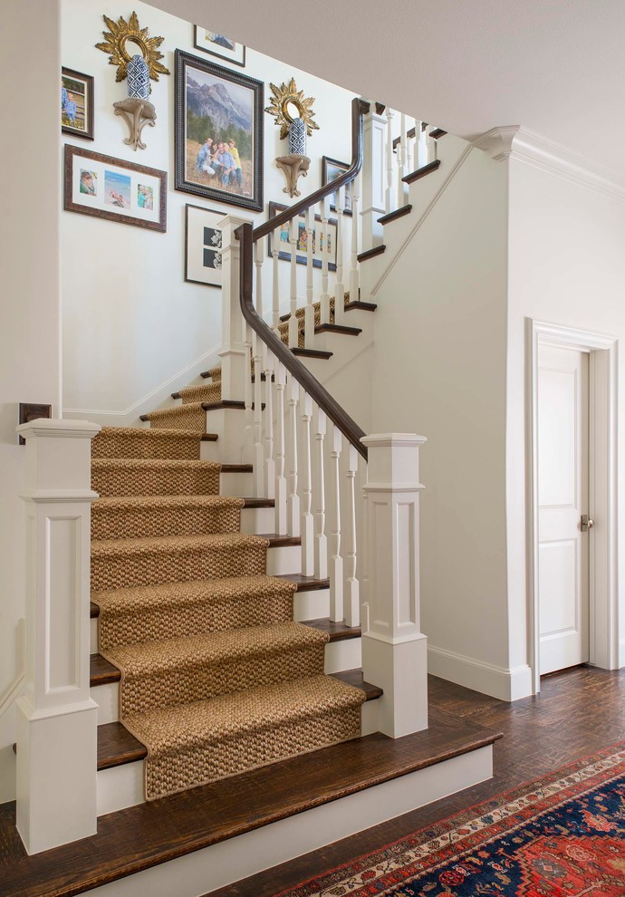stairs with carpet and wood
