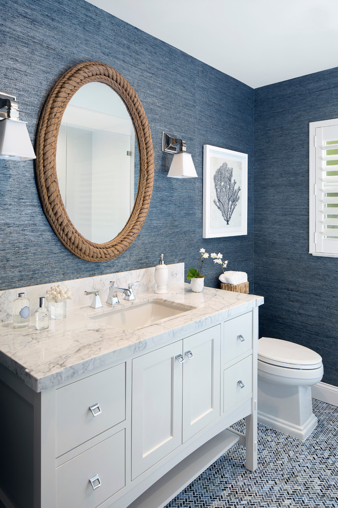 bathroom mirror decorations with marble sink