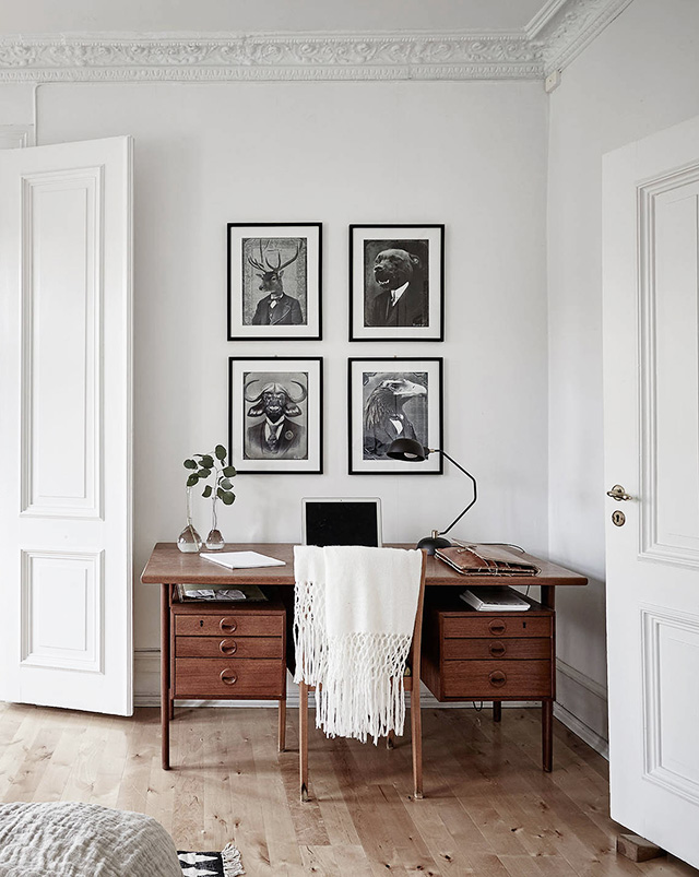 Home office Scandinavian style Wall art