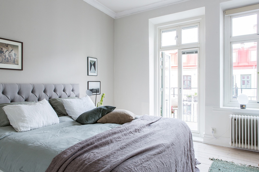 bright interior bedroom