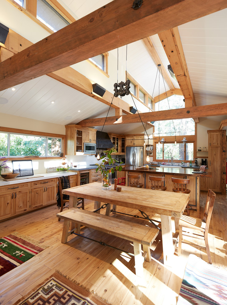 Natural Wood Beams Home Design