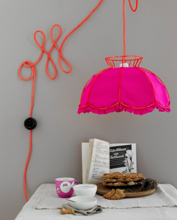 colorful pendant light