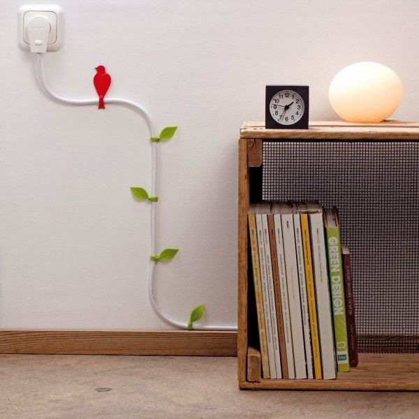 organize cable on the wall