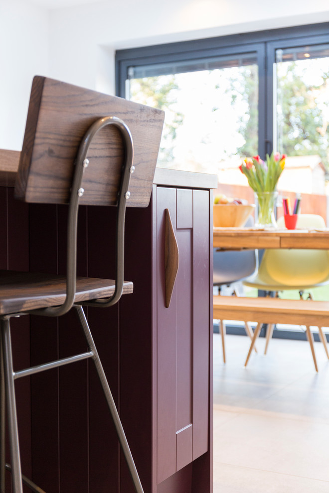 wooden chair dining room in the kitchen