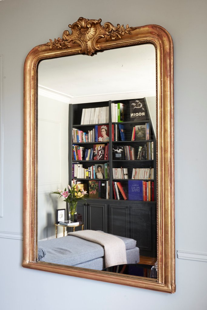 Golden frame mirror decorations