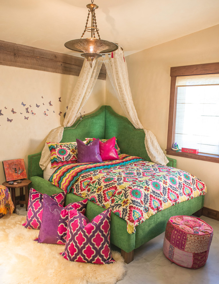 Pictures of colorful bohemian bedroom decor