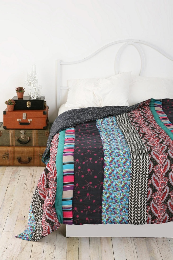 Patched Bed Covers Bohemian Bedroom