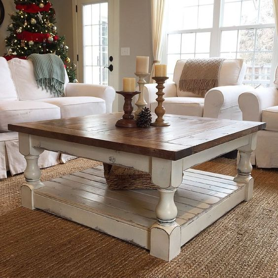 Shabby-Chic Inspired coffee table