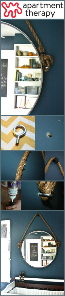 DIY Rope Mirror Decor