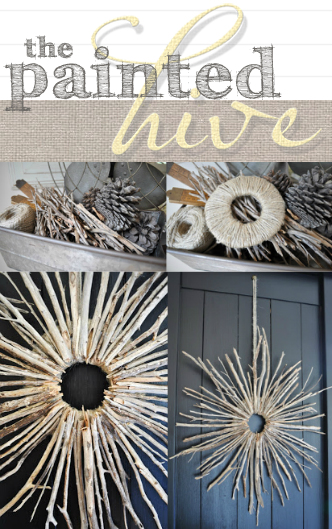 Starburst Twig Wreath
